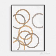 Art Print MAGIC CIRCLES MUSTARD 05 Shape Posters, Graphic Design Posters, Magical Home, Cool Shapes, Magic Circle, Modern Art Prints, All Poster, Typography Prints, Unique Art