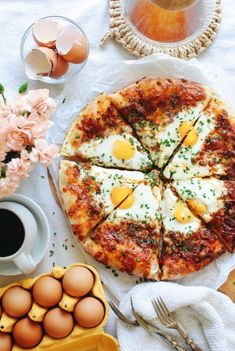Breakfast Pizza with Sausage and Eggs   Bev Cooks Fall Breakfast, Breakfast Pizza, Perfect Breakfast, Breakfast Time, Breakfast Recipes, Gourmet Recipes, Healthy Recipes, Delicious Recipes, Sausage And Egg