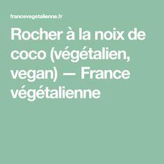 Rocher à la noix de coco (végétalien, vegan) — France végétalienne