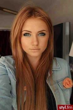 Blonde Highlights With Muddy Red Brown Hair Color- would like this as an ombre colour