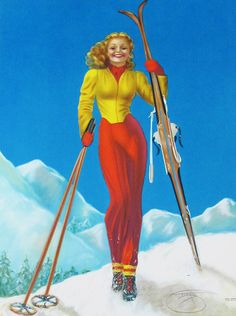 Ski Bunny on Top of The World....Skiing is my favorite thing in the world!!
