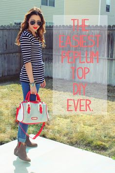 The Easiest Peplum Top DIY Ever | The Sisters Four