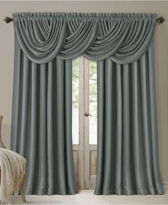 Elrene Home Fashions All Seasons Blackout Window Curtain Panel and Valance Blackout Panels, Blackout Windows, Blackout Curtains, Drapes Curtains, Valances, Balloon Curtains, Silk Drapes, Cheap Curtains, Velvet Curtains