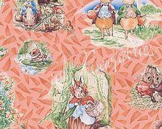 Beatrix Potter tessuto Peter coniglio Quilt blocca di NsewFabrics