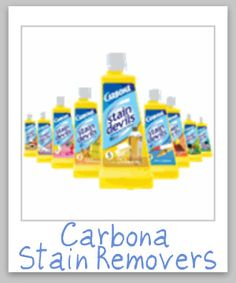 Carbona stain remover reviews and information, for formulas 1 - 9, all designed to remove specific types of stains {on Stain Removal 101}