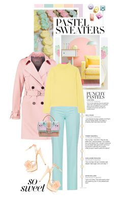 """""""So Sweet: Pastel Sweaters"""" by shortyluv718 ❤ liked on Polyvore featuring Marc Jacobs, contestentry and pastelsweaters"""