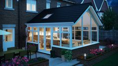 The Thermaglaze team are fully trained to replace your conservatory roof with a solid tiled roof and transform your conservatory into an all-year-round living space. Tiled Conservatory Roof, Conservatory Interiors, Conservatory Extension, Conservatory Design, House Extension Design, Roof Extension, Extension Ideas, Glass Extension, Garden Room Extensions