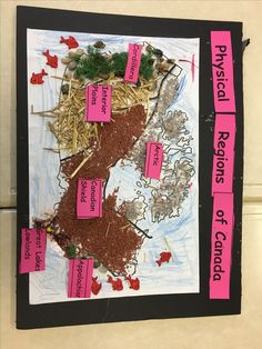 Tactile Map of Canada's Physical Regions Workout Videos, Social Studies, Physics, Ss, Canada, Study, Science, Teaching, Education