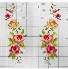 101 ÇEŞİT GÜL ŞABLONU (1) - GELİN İŞLERİ Tiny Cross Stitch, Cat Cross Stitches, Cross Stitch Bookmarks, Vintage Cross Stitches, Cross Stitch Borders, Cross Stitch Flowers, Cross Stitch Designs, Cross Stitching, Cross Stitch Embroidery