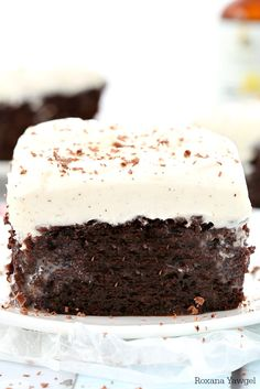 With a secret ingredient that brings out all the chocolate goodness, this made from scratch double chocolate poke cake with vanilla bean frosting will be everyone's favorite at the next potluck!