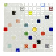 Mosaic Glass Tile by Vidrepur Glass Mosaic Mixes Collection Recycled Glass Tile Mesh Backed Sheet in Joy - ( VID-42289 ):  lots of project photos on the site.