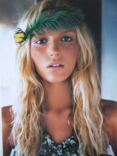 images of surfer girls | surfer girl chick blonde lei headband hippy
