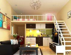 33 Ideas Home Design Simple Loft For 2019 Modern Tiny House, Tiny House Living, Small House Design, Modern House Design, Loft House, Sims House, House Rooms, Casa Hipster, Studio Decor