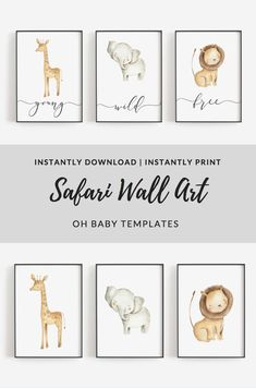 Art Wall Kids, Nursery Wall Art, Nursery Decor, Nursery Paintings, Nursery Room, Boy Room, Room Decor, Nursery Pictures, Safari Nursery