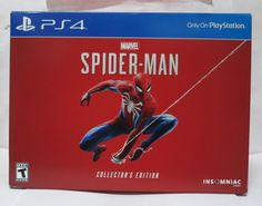 Marvel\'s Spider-Man Collector\'s Edition game for Sony PlayStation 4 PS4 NEW Experience a brand-new and authentic Spider-Man adventure with a fully customized Amazing Red PS4 Pro console.  Best spider man ps4 pro bundle, Save price pider man ps4 bundle, Spider man ps4 pro best buy Spider man ps4 pro gamestop, Spider man ps4 pro walmart Best seller #spidermanps4prorestock #ps4prospidermanedition #Spidermanps4proconsole