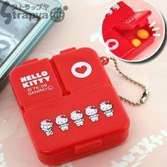 Sanrio Hello Kitty Nurse 3-Pocket Pill Case