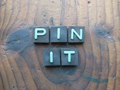 PIN IT Vintage Wood Anagram Game Pieces Retro by hoitytoitydesigns, $9.00