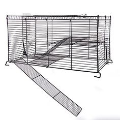 Converts Any 10 Gallon Aquarium to a Small Pet High Rise! Made of Durable Powder Coated Wire that is Chew Proof Includes Mesh Ramps and Shelves that are Safe for your Pet