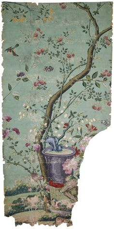 Panel of Chinese wallpaper (Wallpaper) | V&A Search the Collections