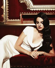 """White Gown Worn by Lana Del Rey in """"Burning Desire"""" Music Video"""
