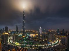 Ring of Darkness - Very dark and moody evening in Dubai