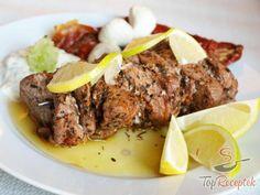 Souvlaki s tzatziki Healthy Eating Tips, Healthy Nutrition, Greece Food, Vegetable Drinks, Tzatziki, Fruits And Vegetables, Meatloaf, Steak, Grilling