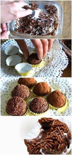 Brigadeiro funcional (sem leite condensado) #brigadeiro #chocolate #fit #receita #gastronomia #culinaria #comida #delicia #receitafacil