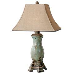 Uttermost Andelle Light Blue Table Lamp 27395