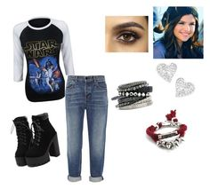 """""""Blue's Outfit #1"""" by loganater101 on Polyvore featuring Alexander Wang, Vivienne Westwood and H&M"""