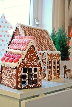 ginger bread houses look better than they taste