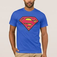Superman Up In The Sky Adult Work Shirt