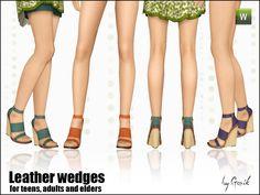 Gosik's Leather wedges