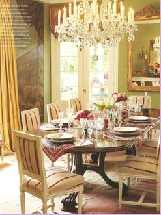 lovely  Lynn Von Kersting dining room in her home