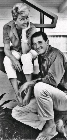 Rock Hudson and Doris Day.