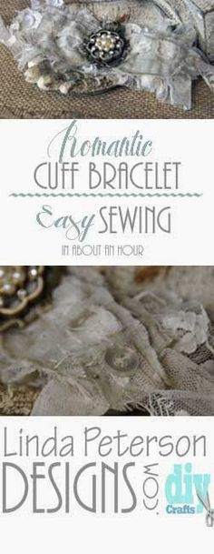 (C)Linda Peterson DesignsHow to sew a vintage fabric cuff bracelet - Easy sewing   videowww.lindapetersondesigns.com