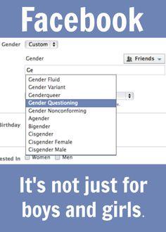 Facebook. It's not just for boys and girls. #socialmedia #social #lgbt