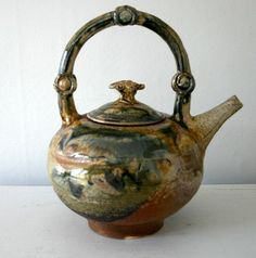 Vintage Studio Pottery Stoneware Teapot by ConceptFurnishings, $49.00