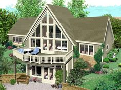 23 Best A-Frame House Plans images | A frame house plans ...  D Waterfront Home Designs Floor Plans on
