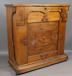 antique oak murphy bed - Google Search