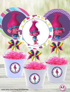 Resultado de imagen para trolls party decoration