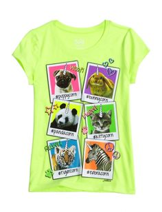 Animal Unicorn Graphic Tee   Girls Graphic Tees Clothes   Shop Justice