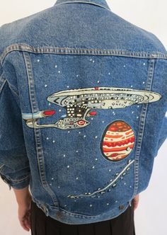 """Out of This World"" denim jacket"
