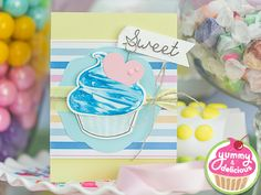 A whole new collection of dies, stamps, printed cardstock, and delicious embellishments! Fun Stampers Journey Yummy and Delicious |  A sneak peek of one of the make and take projects!