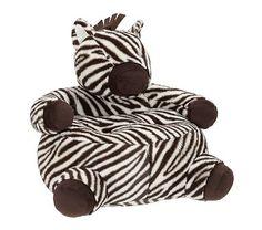 Zebra Critter Chair #PotteryBarnKids  So cute!!!