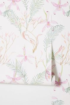 January Waters for Anthropologie: Iris Wallpaper