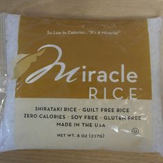 It's a miracle! Guilt free, soy free, calorie free, gluten free, from the land of the free Shirataki Rice by Miracle Noodle Calorie Free Noodles.  Open: Mon-Fri, 8am-8pm Sat & Sun, 10am-8pm