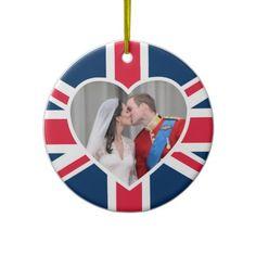 Royal Kiss - William  Kate Wedding Christmas Ornament