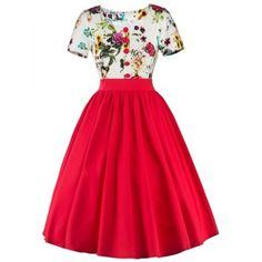 SHARE & Get it FREE | Floral Trim Fit and Flare DressFor Fashion Lovers only:80,000+ Items·FREE SHIPPING Join Dresslily: Get YOUR $50 NOW!