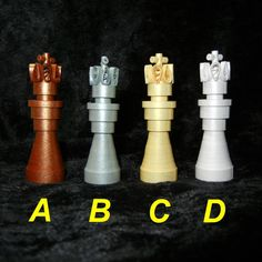 Quilled paper chess set -
