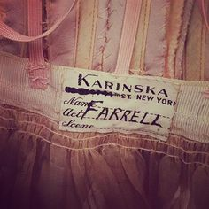 Suzanne Farrell costume from Don Quixote made by Karinska. Only a true ballet nerd would understand the beauty and history in this label. ❤️ #ballet #nycityballet